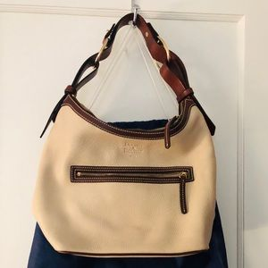 Dooney & Bourke Taupe Pebbled Leather Hobo
